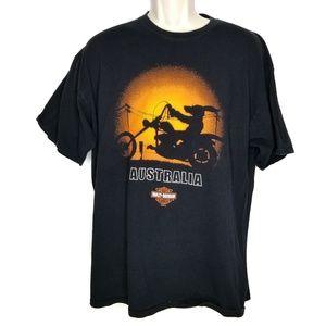 Harley Davidson XL Australia T Shirt Black